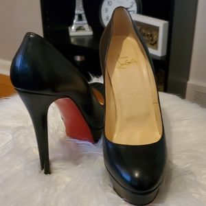 Christian Louboutin Bianca 140 Leather Pumps
